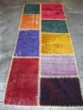 トルコ絨緞 ラグ オールド・アンティーク パッチワーク ランナーサイズ183x70cm