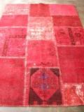 トルコ絨緞 ラグ オールド・アンティーク パッチワーク リビングサイズ196x140cm
