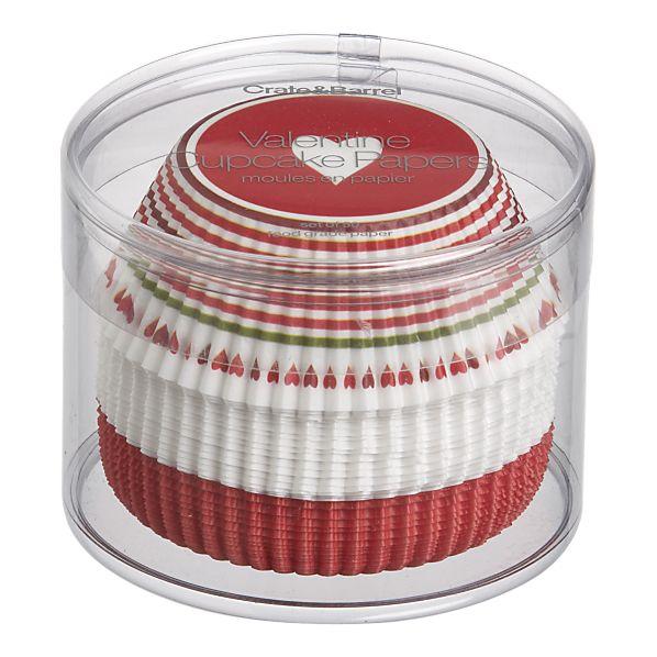 バレンタイン限定♪大人気のCrate & Barrelからカップケーキペーパーカップ 50枚入り(L)
