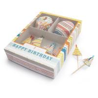 Williams Sonoma(ウイリアムズ・ソノマ)のカップケーキの【Happy Birthday】デコレーションキット