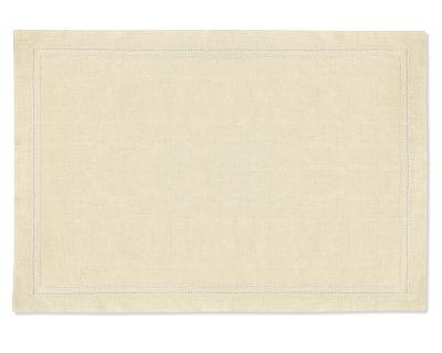 【2点以上購入で10%OFF】Williams Sonoma (ウィリアムズソノマ)のヘムステッチのランチョンマット カラー:ナチュラル