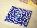 ウズベキスタンの手描きのモザイクタイル blue(青色) タイプ【B】