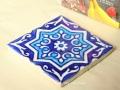 ウズベキスタンの手描きのモザイクタイル blue(青色) タイプ【C】