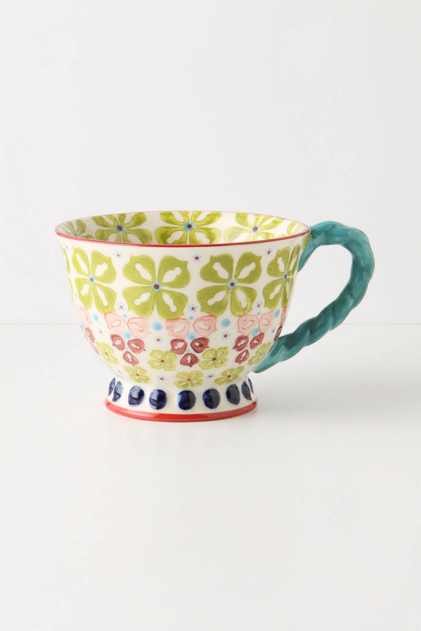 ☆ 大人気!☆Anthropologie(アンソロポロジー)のTwist Teacupマグカップ ライム