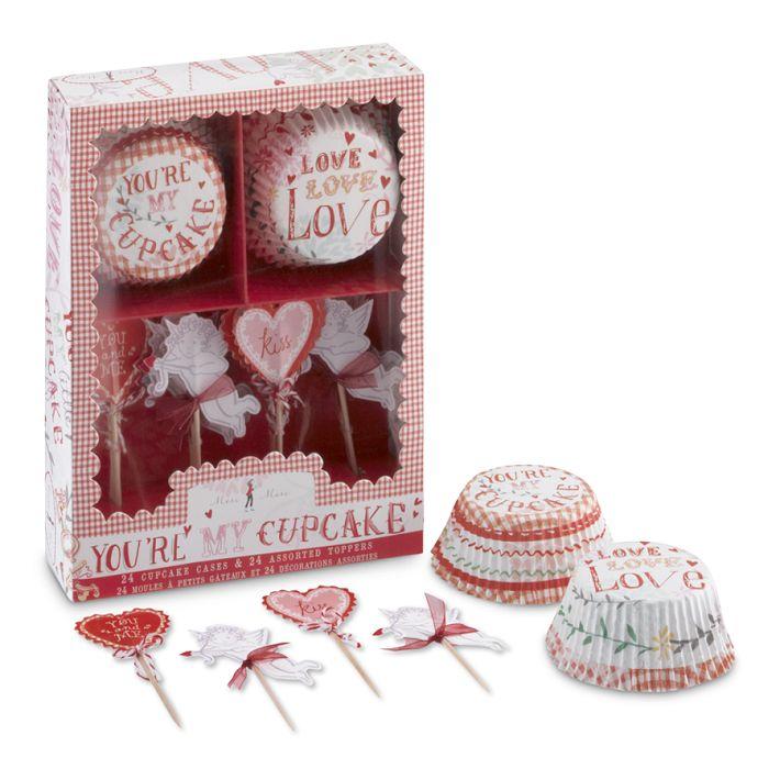 Williams Sonoma(ウイリアムズ・ソノマ)のカップケーキのバレンタインデコレーションキット