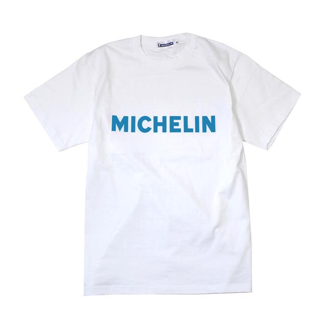 T−Shirts/Logo/White(01)×Blue