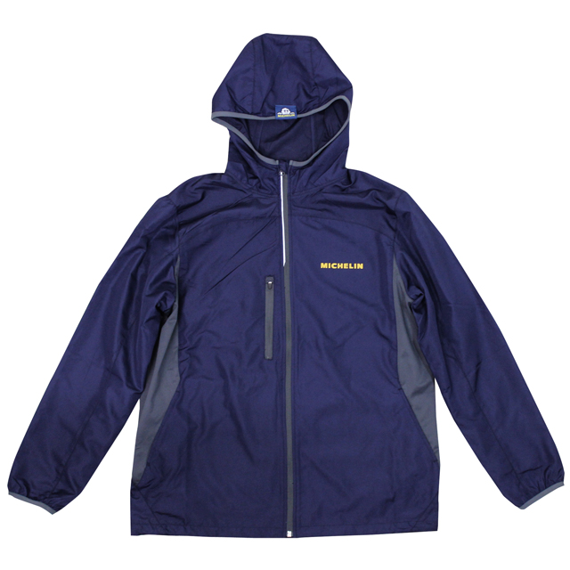 Rip stop hood jacket/Michelin/Navy