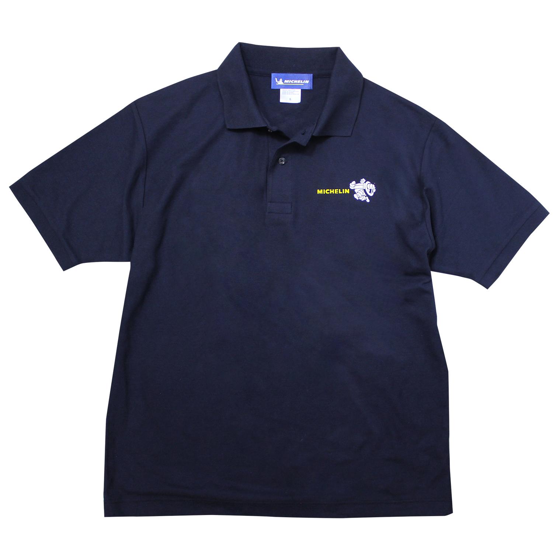 Polo shirt/BIB/Navy 【ネコポス便可】