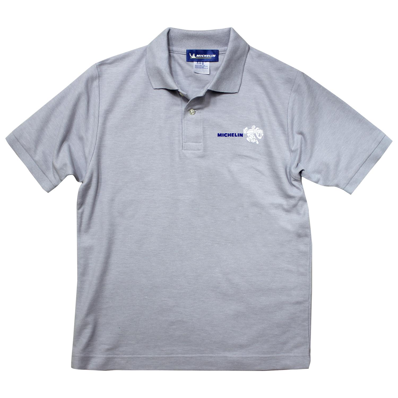 Polo shirt/BIB/Gray 【ネコポス便可】