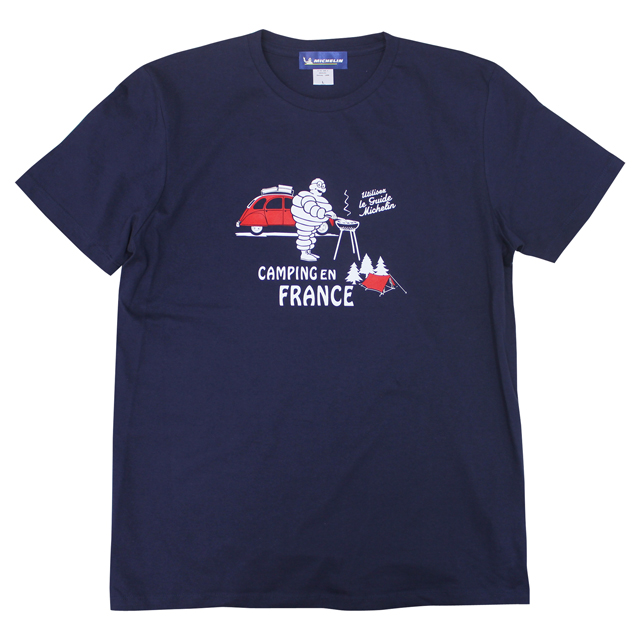 T-Shirts/Auto camp/Navy/Michelin