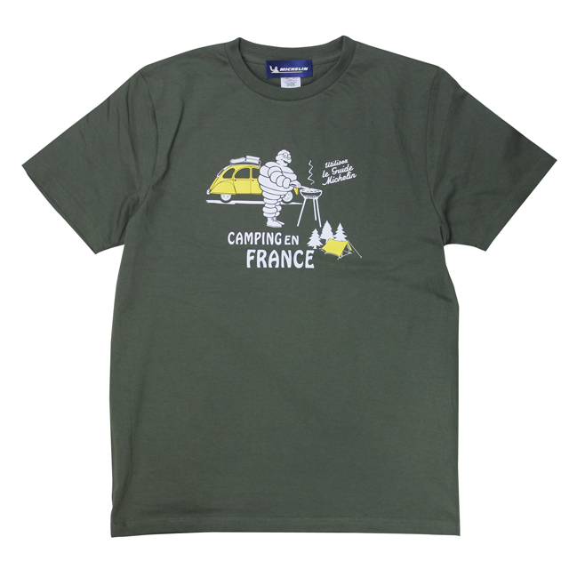 T-Shirts/Auto camp/Army green/Michelin