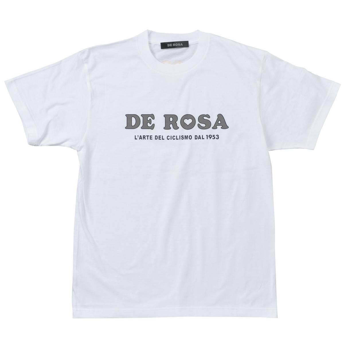 T−Shirts/DE ROSA/Classic Logo/White