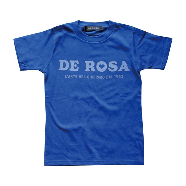 KIDS T-Shirts/DE ROSA/Classic Logo/Blue