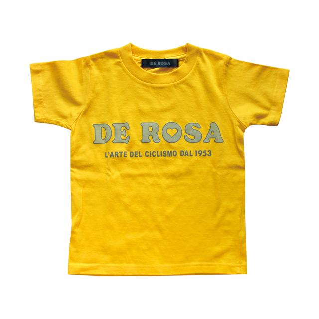 KIDS T−Shirts/DE ROSA/Classic Logo/Yellow