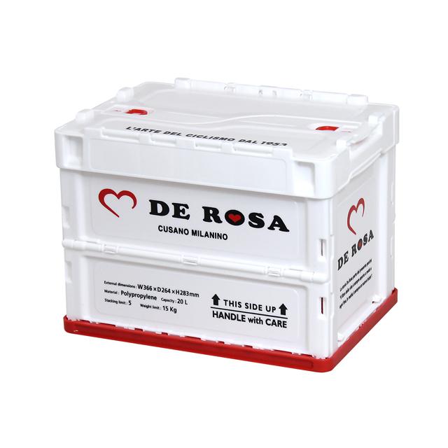 折り畳みコンテナ/DE ROSA /White/20L(740114)