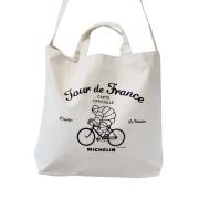 2Way tote bag/Tour de France/White