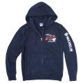 Zip up hoodie/Airstop/Navy/Michelin【予約商品・お届け10月中旬】