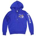 Zip up hoodie/Airstop/Royal blue/Michelin