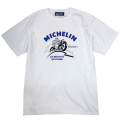 T-Shirt/Motorcycle/White(01)/Michelin 【ネコポス便可】
