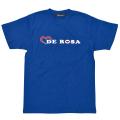 T−Shirts/DE ROSA/Logo/Blue