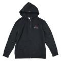 Zip up hoodie/Derosa/Black