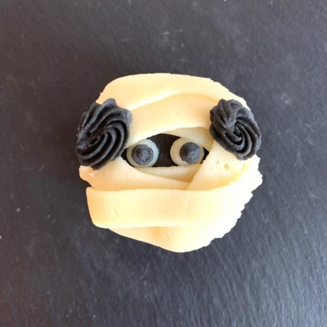 ハロウィンドッグ カップケーキ 【ミイラ】 第一弾(10月10日までのお届け)