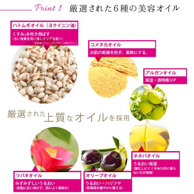 厳選された6種のオイル配合
