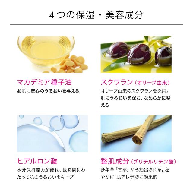 4つの保湿・美容成分