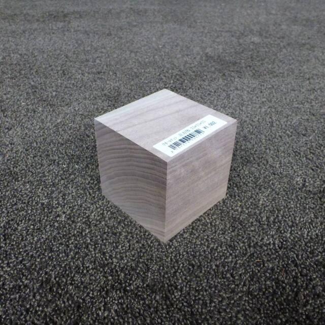 ウオールナット 立方体 75×75×75