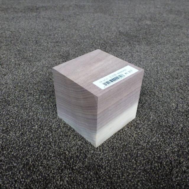ウオールナット 立方体 80×80×80