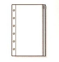 システム手帳 リフィル ミニ6穴サイズ ファスナーポケット