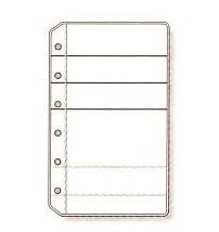 システム手帳 リフィル ミニ6穴サイズ カードホルダー
