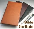 薄型 合成皮革製 システム手帳 バイブルサイズ B6/