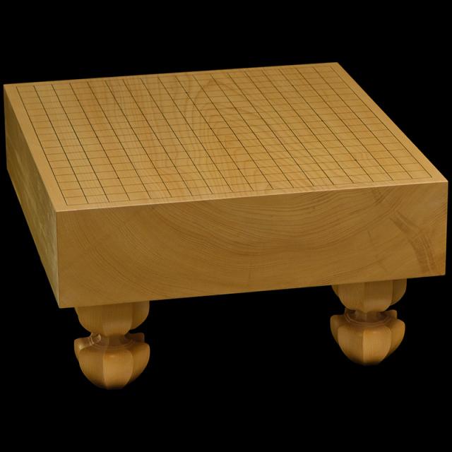 国産本榧足付碁盤 3寸6分(木裏) ga30010
