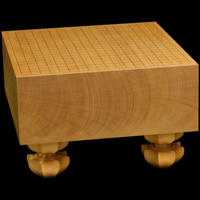 本榧足付碁盤 5寸4分(天柾) ga50040