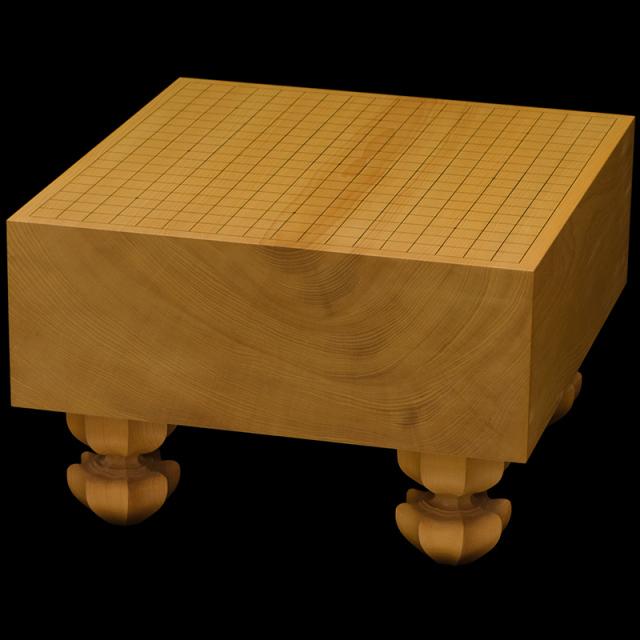 国産本榧足付碁盤 5寸2分(木裏) ga50044