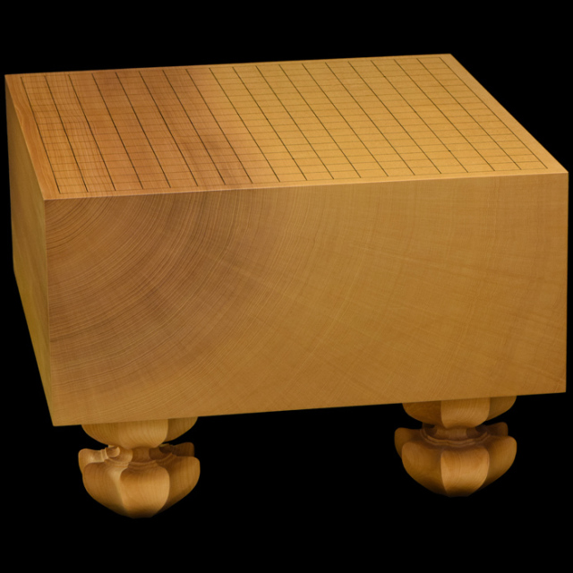 本榧足付碁盤 6寸3分(天柾) ga60029