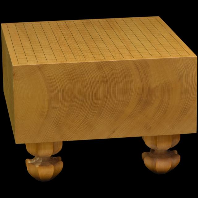 本榧足付碁盤 6寸1分(天地柾) ga60030