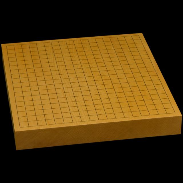 本榧卓上碁盤 1寸9分(一枚板・天柾) gb10167
