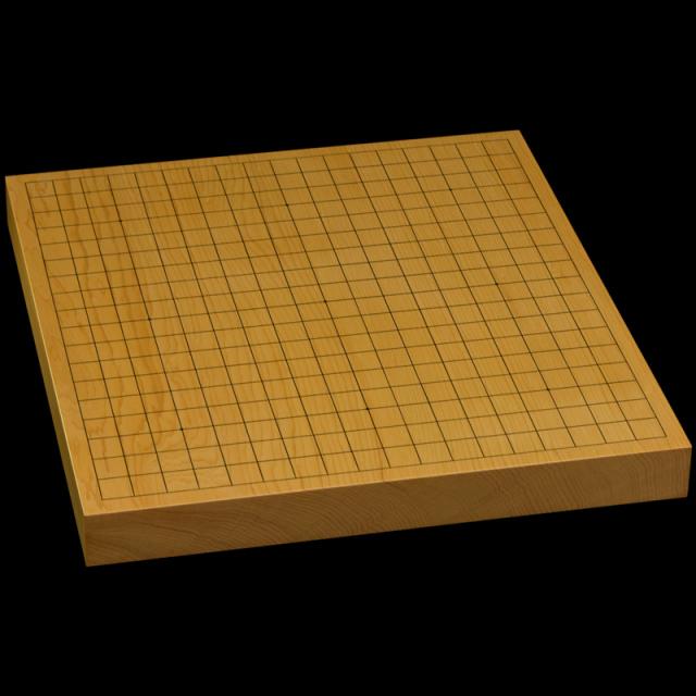本榧卓上碁盤 1寸4分(一枚板・木表) gb10168