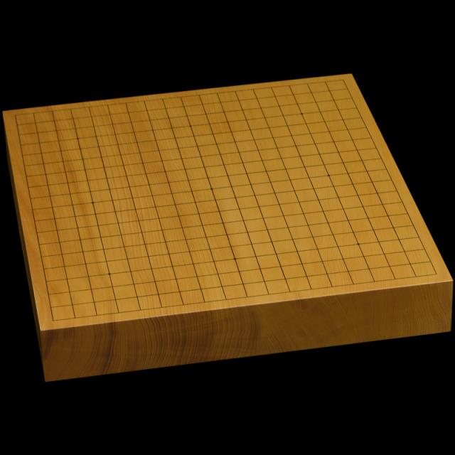 本榧卓上碁盤 2寸1分(一枚板・天地柾) gb20304