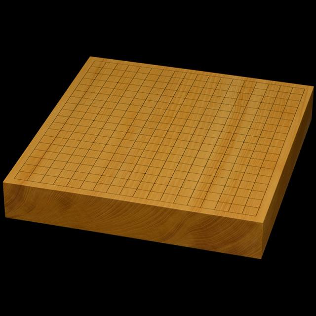 本榧卓上碁盤 2寸3分(一枚板・天柾) gb20308