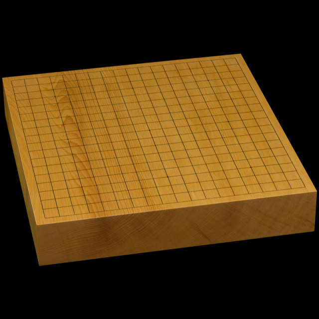 本榧卓上碁盤 2寸4分(一枚板・木裏) gb20315