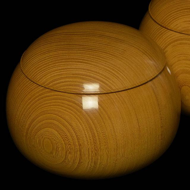ケヤキ碁笥(38号、極上品)