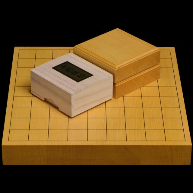 本榧1.5寸卓上将棋盤セット(ハギ盤 特上)