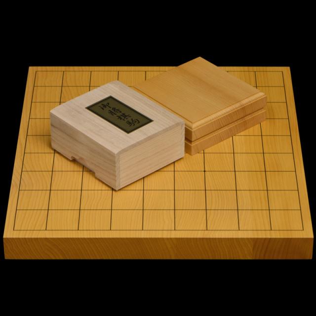 本榧1寸卓上将棋盤セット(ハギ盤・上)