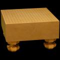 本榧足付碁盤 4寸8分(天柾) ga40016
