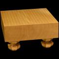 本榧足付碁盤 4寸3分(天柾) ga40017
