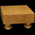 本榧足付碁盤 4寸3分(天柾) ga40018