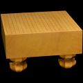 本榧足付碁盤 4寸5分(天柾) ga40019
